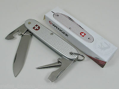 "Discontinued Wenger Standard Issue (SI) ""Soldat"" Silver Alox Swiss Army Knife"