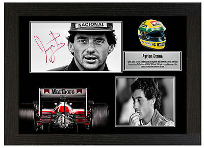 Ayrton Senna - A3 Signed Framed Collectors Display Picture