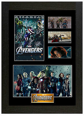 Marvel Avengers - A3 Signed Framed Collectors Display Picture