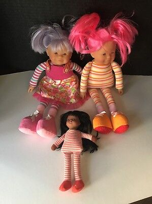 Corolla Doll Lot:  Les Dollies pink and lavender and small doll