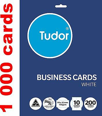 1000 Blank Business cards Name tags 90x52mm 150gsm paper printable labels tag