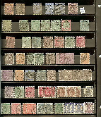 Mixed Selection Very Old India Stamps on 3 Pages. (Total of 146 Stamps)