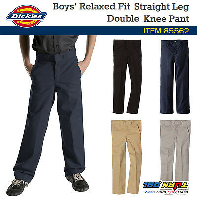 New Dickies Boys Double Knee Straight Relaxed Fit Extra Pocket Pants 85562 4-20