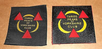 2 Three Peaks Of Yorkshire Club Patch Badges