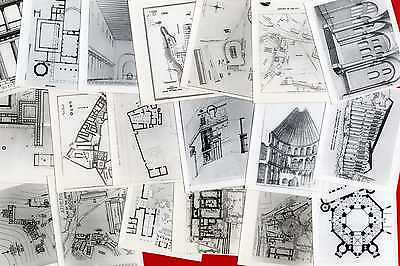 #21441 Greece 1950s? 40 photos 11x9 cm, archaeological-architectural drawings