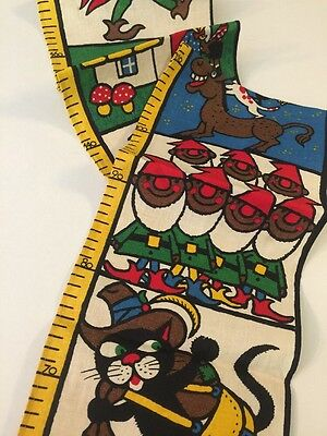 Fabulous Vintage Linen Growth Chart Fairy Tales Germany Colorful!