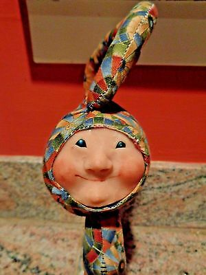 Vintage Laura White NUBBINS Hand Made Gnome Elf Doll OOAK w/tag
