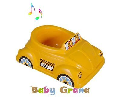 Yellow Musical Potty Car Police/Taxi Potty Training