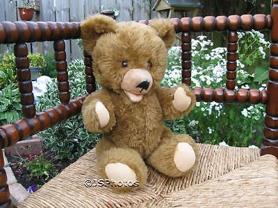 Old Vintage German Zotty Teddy Bear Dralon With Growler