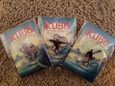 Rare  Kubo and the Two Strings Movie Promo Pins 3 pin set Almost sold out