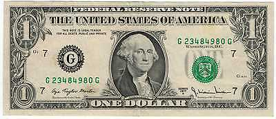 1977A $1 Federal Reserve Note Error Note FR1910G Blank Reverse