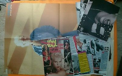 BILLY IDOL LOT 1 GIANT POSTER + 6 POSTER + CLIPPINGS updates MAGAZINE C1