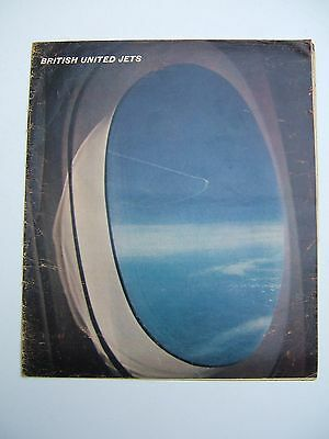 RARE BRITISH UNITED AIRWAYS MID 60s BROCHURE FEATURING VICKERS VC10 & BAC 1-11