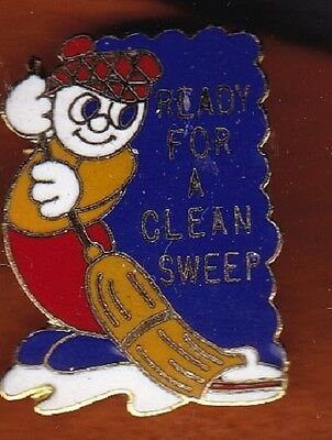 """""""Ready for a Clean Sweep"""" - Curling Pin"""