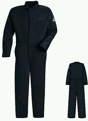 New Bulwark Protective Apparel Men's Flame Resistant Coveralls Navy Size 40 Reg