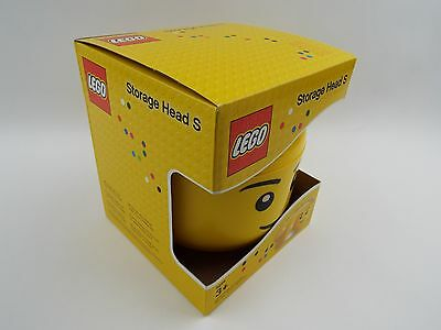 Lego Yellow Storage Head Boy/Male Size Small Boxed