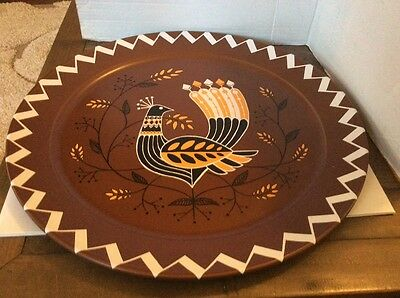 Metal Turkey Thanksgiving Large Tray