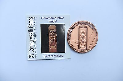 RARE - XV Commonwealth Games Commemorative Medal - SPIRIT OF NATIONS