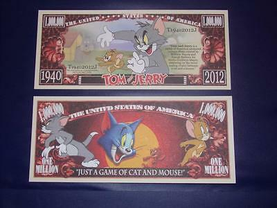 Beautiful Crisp Disney Tom And Jerry U.s. Banknote Free Note Offer!