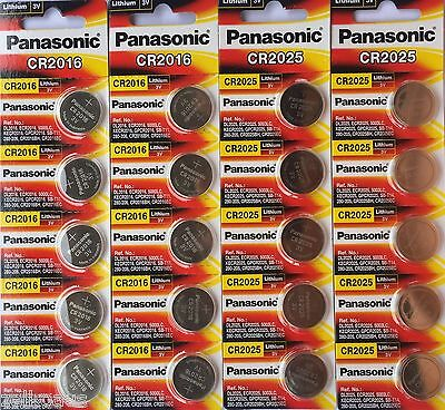 Genuine Panasonic Lithium Batteries CR2016 or CR2025 3V button cell coin battery