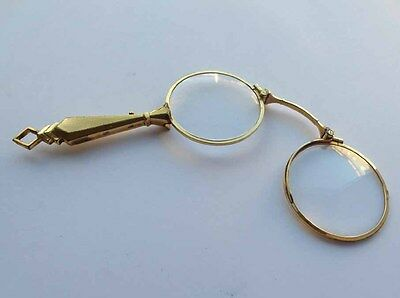 Antique Lorgnette, décor guilloché, France, um 1910 - 1920 F976