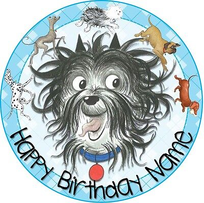EDIBLE Hairy MaClary Cake Topper Birthday Party Wafer Paper 19cm (uncut)