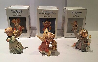 Goebel Hummel - Annual Ornaments, 1990, 1991 & 1992 With Boxes