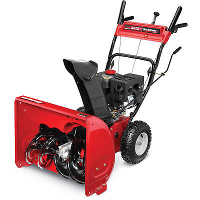 "Yard Machines 24"" 2 Stage Snow Blower Thrower Path Cleaner Red 208cc 31AS63EE752"