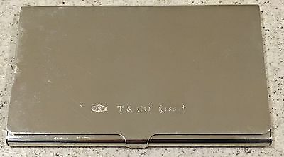 TIFFANY & Co Sterling Silver Business Card Case In Gift Box 1837 - 1999