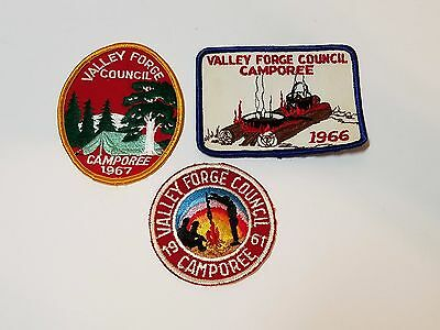 Vtg BSA Boy Scouts of America Uniform Patch Valley Forge Council PA 60s Camporee