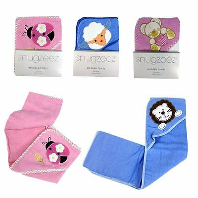 BNWT Newborn Baby Toddler adorable hooded cotton bath towel Blue Lamb only