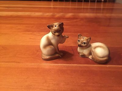 Vintage Siamese Cats Salt & Pepper Shakers