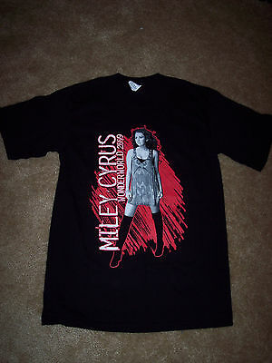 MILEY CYRUS Wonderworld 2009 Tour Concert T-Shirt Adult Small - NEW & Unworn