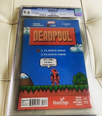 DEADPOOL #11 Hastings Exclusive 8-BIT CGC 9.6