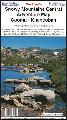 Rooftop's Snowy Mountains Adventure Map - Camping Walking 4Wd Track