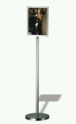 A4 Stainless Steel Information Display Stand