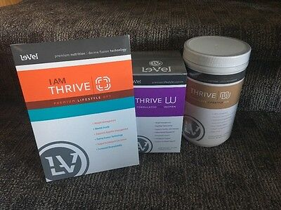 Le-Vel THRIVE Women's pack -DFT, Vitamins & Chocolate Shake Canister