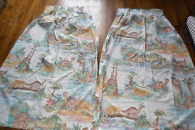 Vtg Land Before Time Window Curtains Drapes