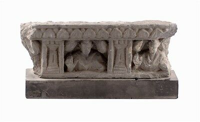 Gandharan grey schist panel fragment