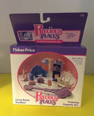 #5176 NIB Vintage Fisher Price Precious Places Living Room Furniture Accessory