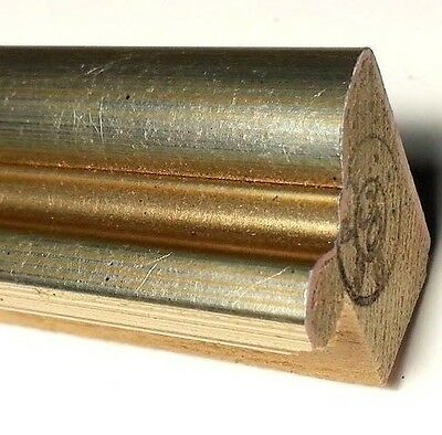 38 ft - Bronze Gold Picture Frame Moulding, Smooth Metallic Finish, Wood, Length
