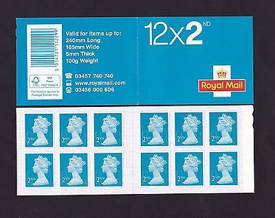 GB 12 x 2nd CLASS M16L MTIL FORGERY SELF ADHESIVE BOOKLET, NEW FIND