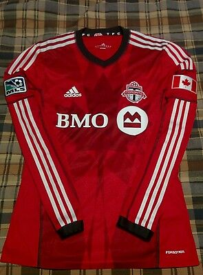2013/14 Toronto FC Home Authentic Medium L/S Jersey w tags #18 Jermain Defoe