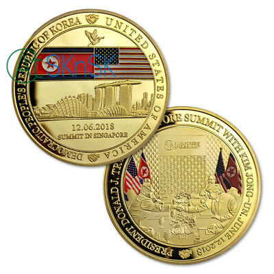 1895 TRUMP KIM JONG-UN PEACE SUMMIT US MORGAN DOLLAR COIN