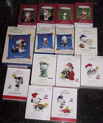 Peanuts Snoopy Charlie Hallmark Lot 49 Christmas ornaments  all NIB