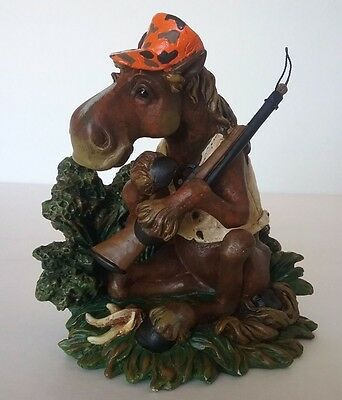 Novelty Fun Limited Edition Numbered Hunting Moose With Rifle Figurine
