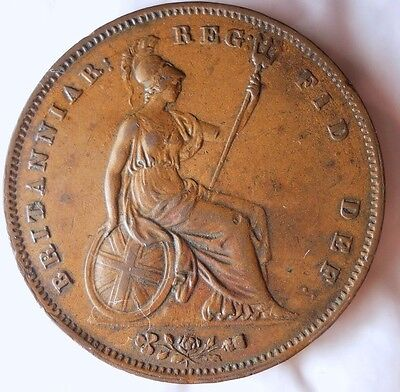 1854 GREAT BRITAIN PENNY - Higher Grade Rare - FREE SHIP WORLDWIDE - HV23