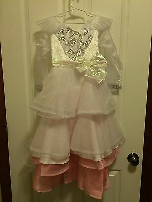 Disney Deluxe Glinda The Good Witch Wizard Of Oz Girls Costume/Crown Size 5/6