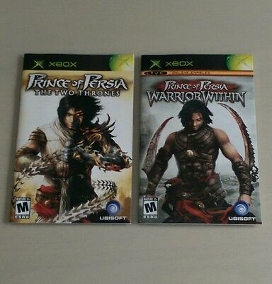 Prince of Persia Instruction Manuals (Original Xbox) GREAT CONDITION