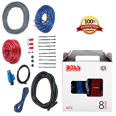 Kit Amp Wiring Audio Power Car Complete Installation Boss New 1500w Wire Cables